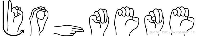 Johnene in Fingersprache für Gehörlose