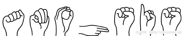 Amohsis in Fingersprache für Gehörlose