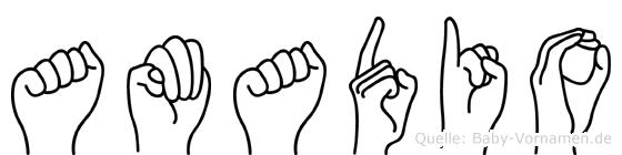 Amadio in Fingersprache für Gehörlose