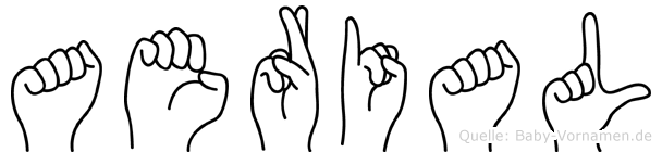 Aerial in Fingersprache für Gehörlose