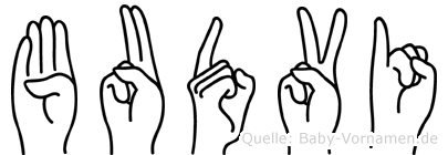 Budvi in Fingersprache für Gehörlose