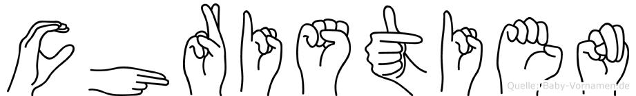 Christien im Fingeralphabet der Deutschen Gebärdensprache