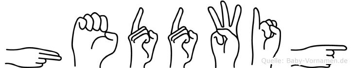 Heddwig im Fingeralphabet der Deutschen Gebärdensprache