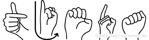 Tjeda in Fingersprache für Gehörlose
