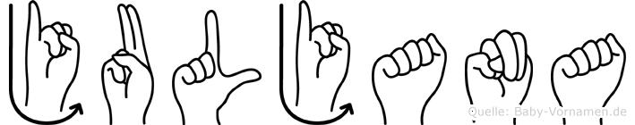 Juljana in Fingersprache für Gehörlose