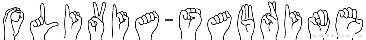 Olivia-Sabrine im Fingeralphabet der Deutschen Gebärdensprache
