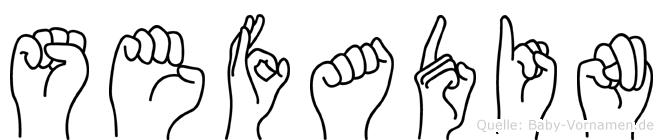 Sefadin im Fingeralphabet der Deutschen Gebärdensprache