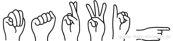 Marwig in Fingersprache für Gehörlose