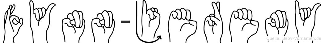 Fynn-Jeremy im Fingeralphabet der Deutschen Gebärdensprache