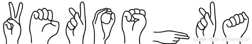 Vekoshka im Fingeralphabet der Deutschen Gebärdensprache