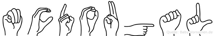 Mcdougal in Fingersprache für Gehörlose