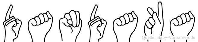 Dandaka in Fingersprache für Gehörlose