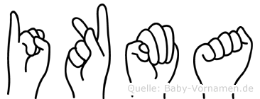Ikma im Fingeralphabet der Deutschen Gebärdensprache