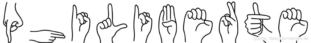 Philiberte in Fingersprache für Gehörlose