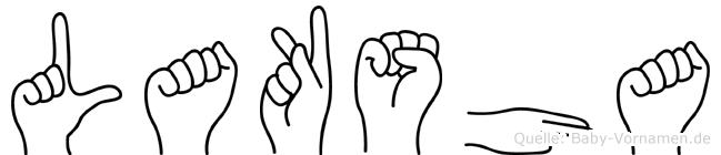 Laksha im Fingeralphabet der Deutschen Gebärdensprache