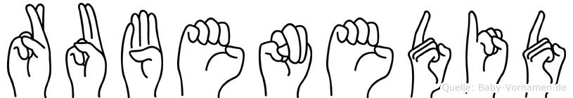 Rubenedid in Fingersprache für Gehörlose