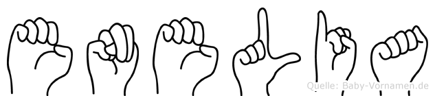 Enelia in Fingersprache für Gehörlose