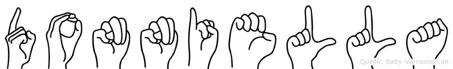 Donniella im Fingeralphabet der Deutschen Gebärdensprache