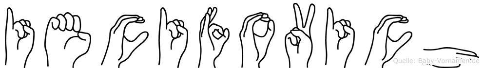 Iecifovich in Fingersprache für Gehörlose