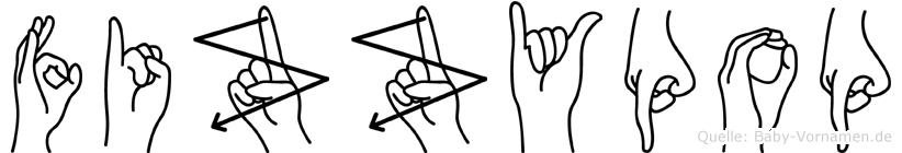 Fizzypop im Fingeralphabet der Deutschen Gebärdensprache
