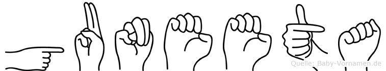 Guneeta in Fingersprache für Gehörlose