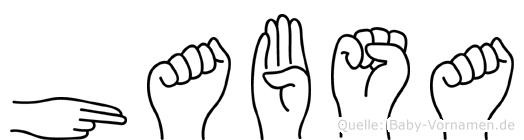 Habsa in Fingersprache für Gehörlose