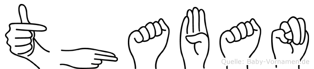 Thaban in Fingersprache für Gehörlose