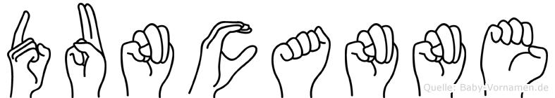 Duncanne in Fingersprache für Gehörlose