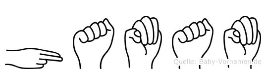 Hamam im Fingeralphabet der Deutschen Gebärdensprache