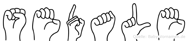 Sedale im Fingeralphabet der Deutschen Gebärdensprache