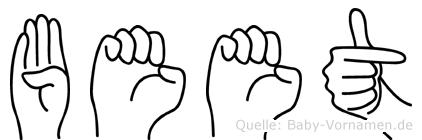 Beet im Fingeralphabet der Deutschen Gebärdensprache