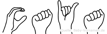 Caya im Fingeralphabet der Deutschen Gebärdensprache