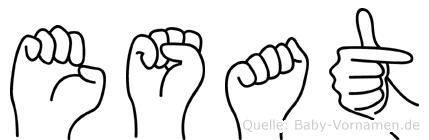 Esat in Fingersprache für Gehörlose
