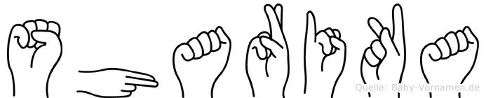 Sharika in Fingersprache für Gehörlose