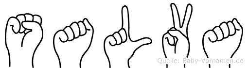 Salva in Fingersprache für Gehörlose