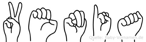 Venia im Fingeralphabet der Deutschen Gebärdensprache