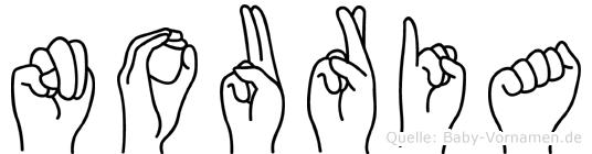 Nouria in Fingersprache für Gehörlose