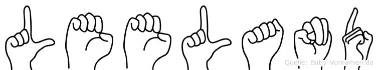Leeland im Fingeralphabet der Deutschen Gebärdensprache