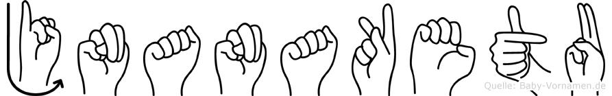 Jnanaketu in Fingersprache für Gehörlose