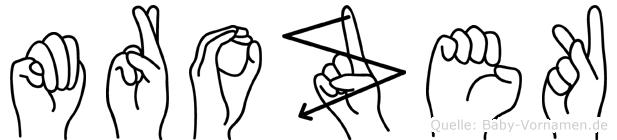 Mrozek im Fingeralphabet der Deutschen Gebärdensprache