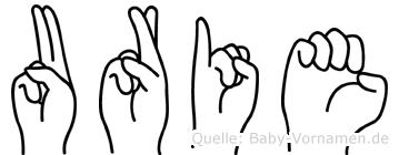 Urie in Fingersprache für Gehörlose