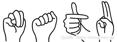 Natu in Fingersprache für Gehörlose