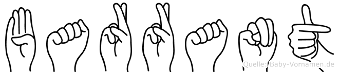Barrant im Fingeralphabet der Deutschen Gebärdensprache