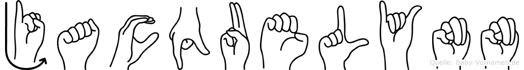 Jacquelynn in Fingersprache für Gehörlose