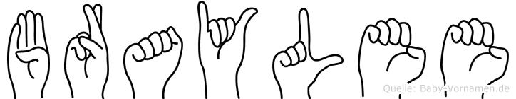 Braylee in Fingersprache für Gehörlose