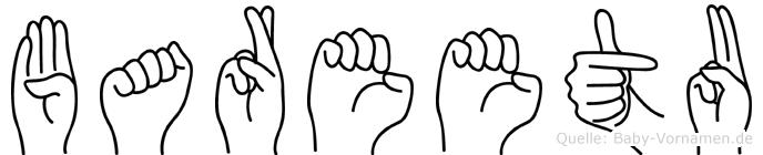 Bareetu im Fingeralphabet der Deutschen Gebärdensprache