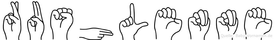 Rushlenne in Fingersprache f�r Geh�rlose