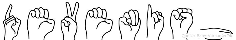 Devenish in Fingersprache für Gehörlose