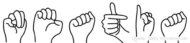 Neatia in Fingersprache für Gehörlose