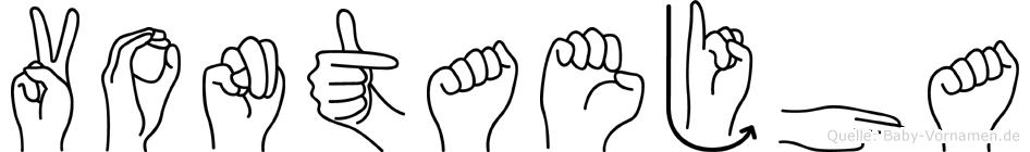 Vontaejha im Fingeralphabet der Deutschen Gebärdensprache